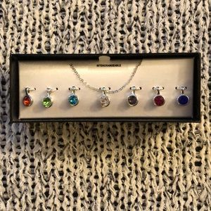 Cute Interchangeable Necklace with Colorful Stones